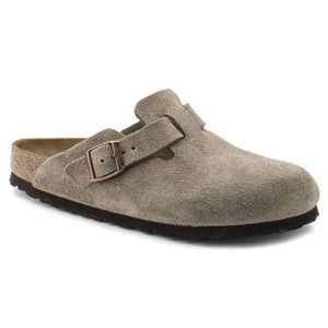 Birkenstock Boston Śuede Leather Clog Like New 34